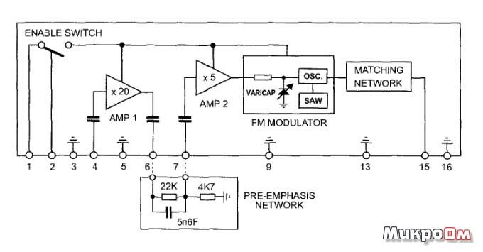 Схема микросборки приемника и