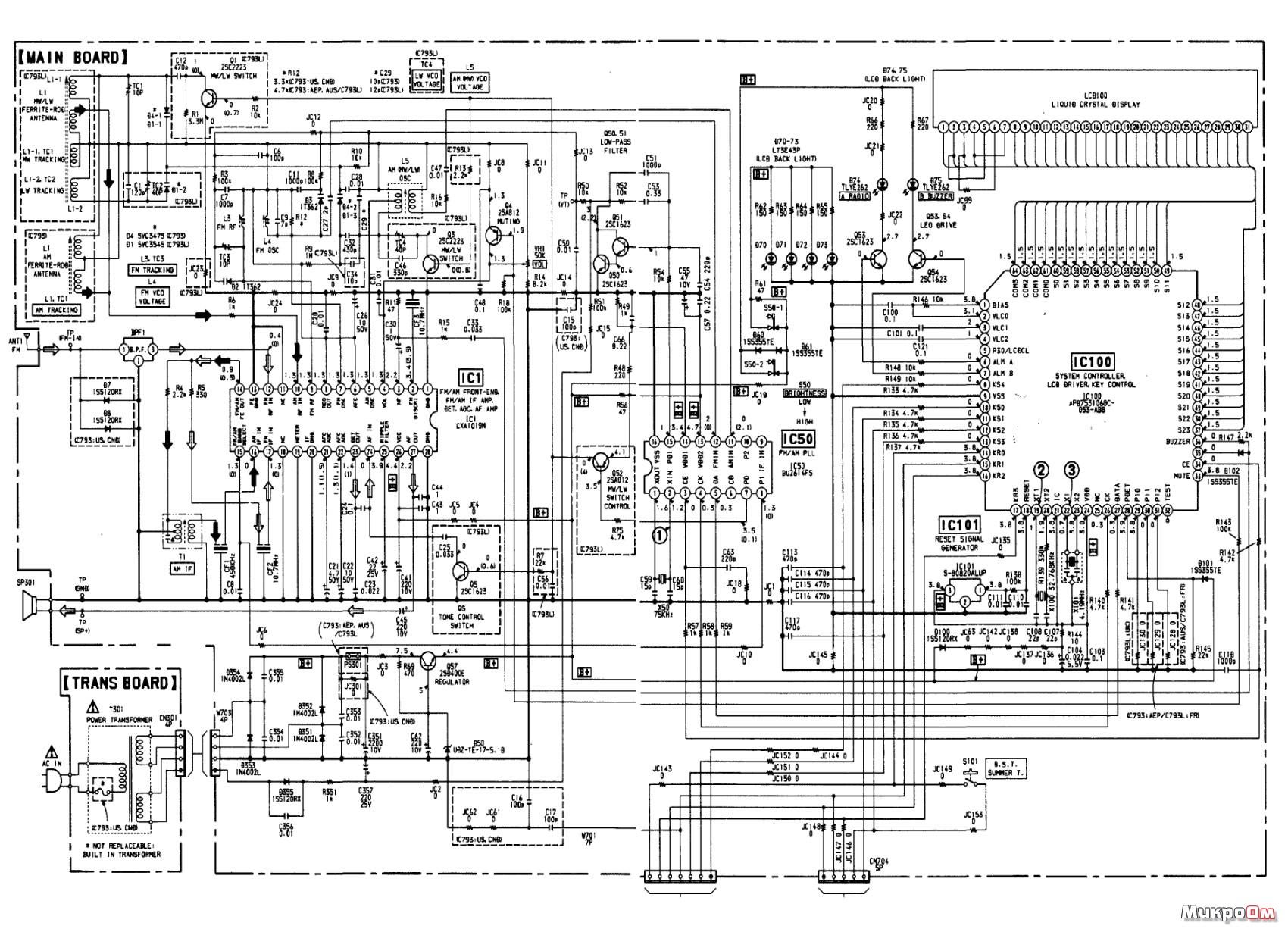 схема приемника радиостанции