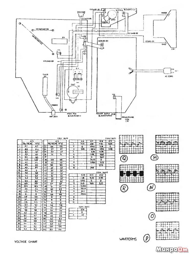 Схема Funai TV-3000